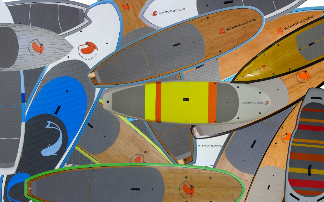 Selecting a paddleboard and discovering how you would like to use it.