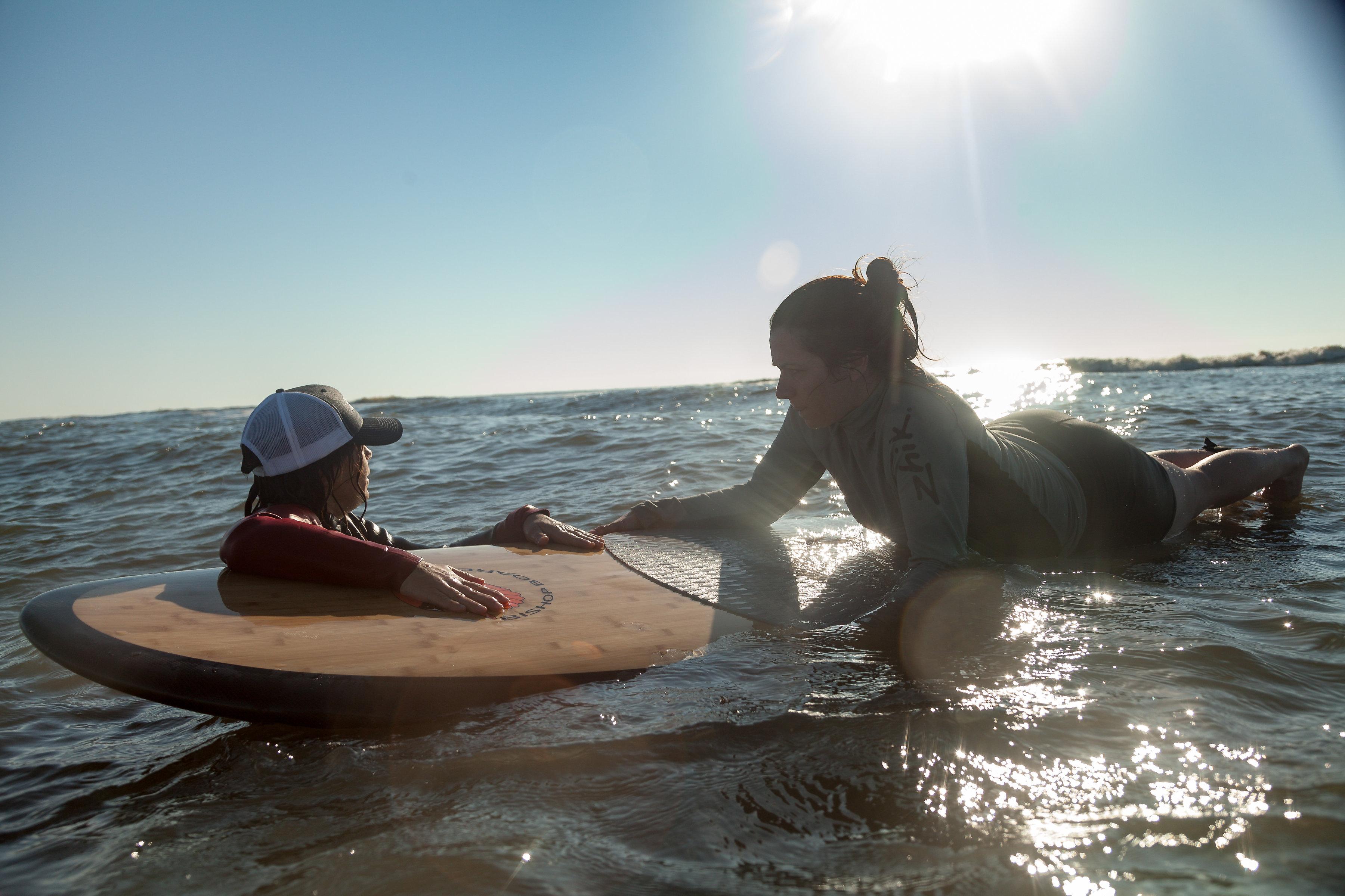 SUP surf lesson