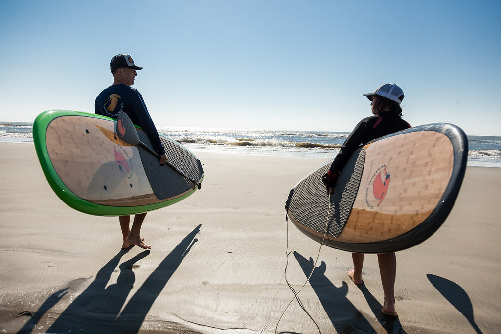 Transporting your SUP board to the water