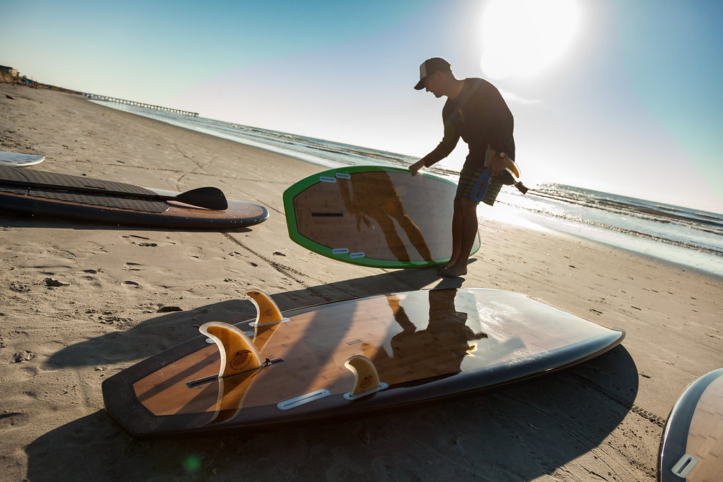 SUP paddling is fun with a Bishop Board