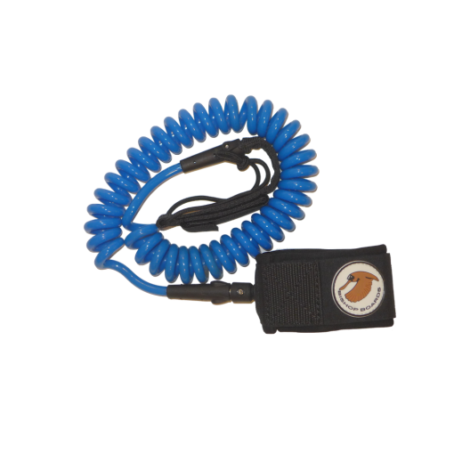 blue sup coiled leash