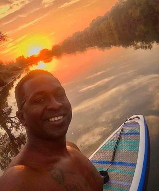 If you chase rainbows long enough.  Khalid eking the last bits out of this days paddle.  #thatsmile  #BoardsThatFly  #BishopBoards . . . . .  #sup #paddleboard #paddleboarding #paddleboarder #paddleboardyoga #paddle #paddlesup #paddleboards #paddle #paddlelife #standuppaddle #stand_up_paddle #standuppaddleboard #standuppaddleboarding #surfing #surfsup #supyoga #standuppaddleyoga #supfishing