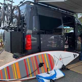 Unroll the best.  Spotted today @adventurevanexpo  Our Strongflate technology, most efficient & durable pump, and Super rigid/durable Fun paddle gives you the most quality available.  #BoardsThatFly  #BishopBoards . . . . .  #supsurf #whitewater #supinstruction #sup #paddleboard #paddleboarding #paddleboarder #paddleboardyoga #paddle #paddlesup #getoutside #wwsup #whitewatersup  #paddleboards #paddle #paddlelife #standuppaddle #stand_up_paddle #standuppaddleboard #standuppaddleboarding #surfing #supwhitewater  #surfsup #acapaddlesports #supyoga #standuppaddleyoga #supfishing #exploreyourworld