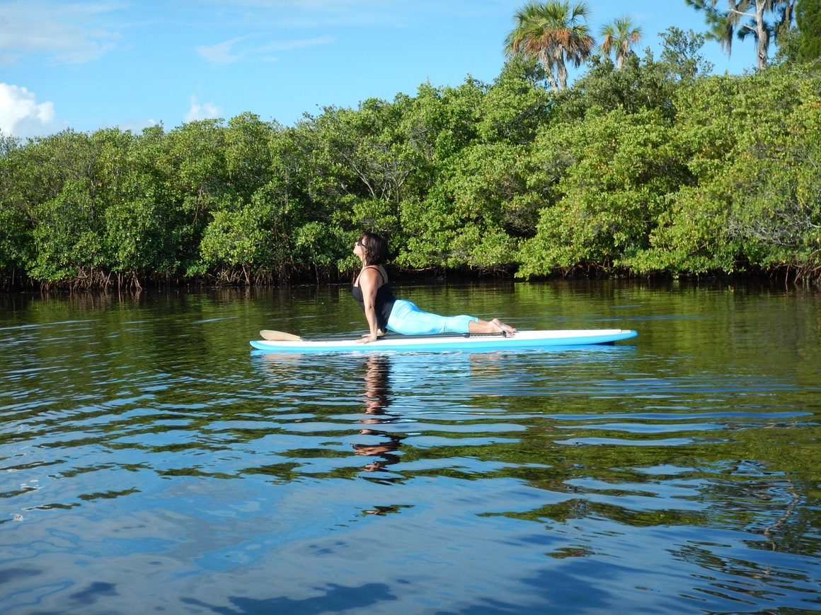 kashi yoga instructor on sup